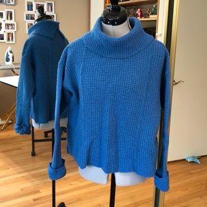 Free People Cornflower Blue Heavy Boxy Sweater S